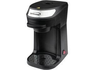 Brentwood Appliances TS-111BK Single-Serve Coffee Maker with Mug, Black