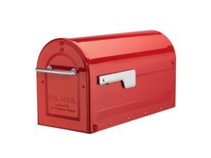 Architectural Mailboxes 7900-7R-SR Boulder Post Mount Mailbox - Red - Large