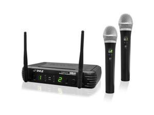 Pyle USA TW7019 Premier Series Professional 2-Channel UHF Wireless Handheld Microphone System