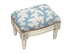 Fantastic 123 Creations C728Ewfss 100 Percent Wool Brown Zebra Stripes Needlepoint Upholstered Solid Wood Footstool Antique White Newegg Com Creativecarmelina Interior Chair Design Creativecarmelinacom