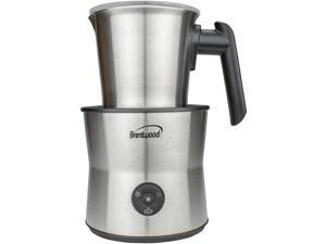 Brentwood Appliances GA-401S 15 oz Cordless Electric Milk Frother, Warmer & Hot Chocolate Maker - Silver