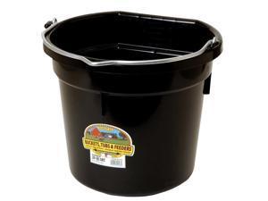 Little Giant 7404031 20 qt. Round Plastic Bucket - Black