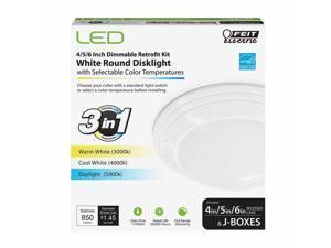 Feit Electric 3933298 4, 5 & 6 in. 12 watt LED Disklight Retrofit Kit - White