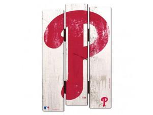 Fremont Die 3208501869 11 x 17 in. Philadelphia Phillies Wood Fence Style Sign