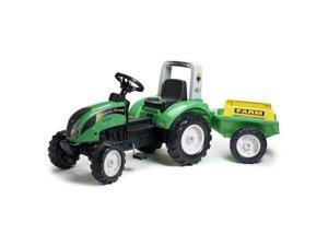 Falk FA1052AB Ranch Green Pedal Tractor with Trailer, Green - 3 to 7 Years