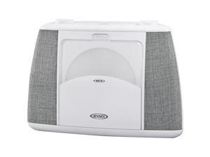 Jensen CD-565 Portable Bluetooth CD Music System, Gray & White
