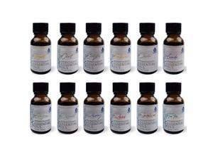 Pursonic EOGS1215 Pure Essential Aromatherapy Oils, Pack of 12