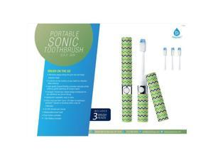 Pursonic S53GH Portable Sonic Toothbrush with 3 Brush Heads