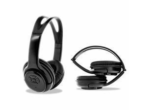 Bytech BYAUBO110GD Universal Bluetooth Wireless Headphones, Black