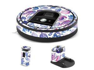 MightySkins IRRO960-Blue Petals Skin for iRobot Roomba 960 Robot Vacuum, Blue Petals