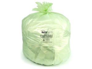 Heritage Y6848EER01 32 gal, 88 ml Biotuf Compostable Can Liners, Light Green - 100 Per Case