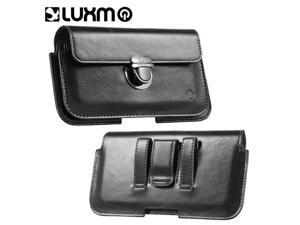 LG LPSAMI717LU28HBK-C Luxmo No.28 Galaxy Note, I717 & 5.7 in. Universal Horizontal Stylish Leather Pouch - Black