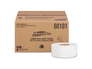 Marcal PRO MRC60101 2-Ply Jumbo Bathroom Tissue - 12 Roll Per Pack