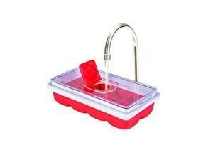 Jobar JB8237RED No Spill Ice Cube Tray, Red