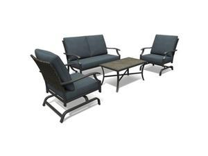 Letright Industrial 259504 4 Piece Four Seasons Courtyard Belmont Seating Set