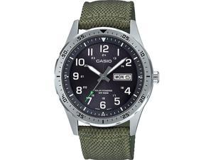 Casio MTPS120L-3AV Men Strap Watch, Green & Black