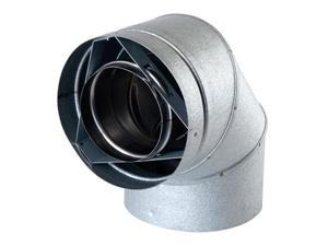 Olympia 3602137 5 in. Ventis Direct Vent Pipe with Stainless Steel Inner & Galvalume Outer 45 deg Elbow