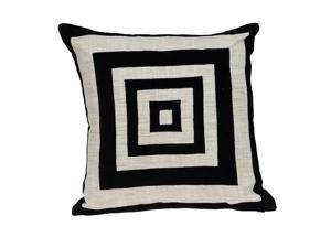 Parkland Collection PILF21001P Lexa Contemporary Black Pillow Cover with Poly Insert