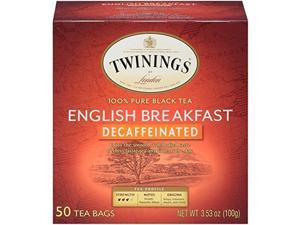 Twining Tea 315884 50 oz Decaffeinated English Breakfast Herbal Tea - Pack of 6