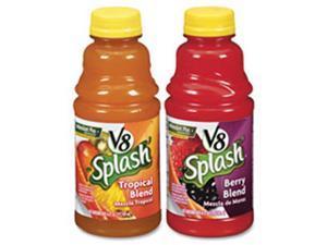 Campbell'S CAM5516 V8 Splash Juice Drinks, 16oz, 12-PK, Tropical Blend