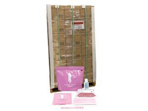 Health Pack PPE Kit Pallet (54 Case = 1080 Individual kits) for School, Student, Kids 6-12 Years - Includes: 1 Hand Sanitizer (50ml), Wet Wipes (25 count), Single-Use Face Masks (10 pcs) - Pink