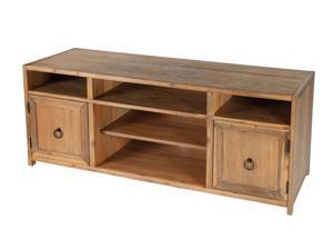 Butler Transitional Rectangular TV Stand with Open Storage Compartments - Natural Wood