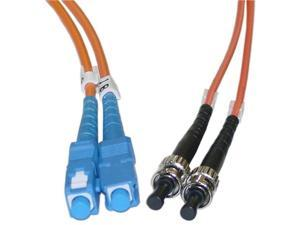 Cable Wholesale SC / ST Multimode Duplex Fiber Optic Cable 62.5/125 - 1 Meter (3.3ft)