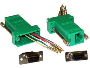 Cable Wholesale DB9 Female / RJ45 Female Modular Adaptor - Green