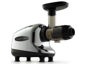 Omega J8005 Nutrition Center Single-Gear Commercial Masticating Juicer, Chrome and Black