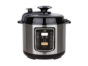 6.5-Quart Stainless Steel Electric Pressure Cooker with Quick Release Button