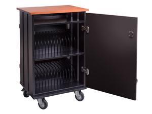 Oklahoma Sound Tablet Charging/Storage Cart - Cherry/Black