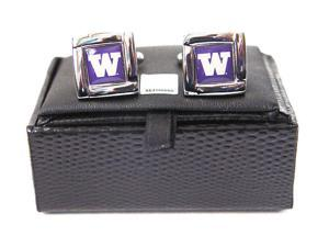 NCAA Washington State Cougars Square Cufflinks With Square Shape Engraved Logo Design Gift Box Set