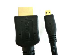 Micro HDMI to Regular HDMI - 6 Feet 2 Meters