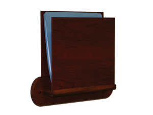 Wooden Mallet Single Open Oval Mount End Letter Size Office File Chart Holder Display Rack Furniture Mahogany