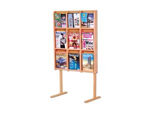 Wooden Mallet Optional Magazine Holder Display Floor Stand for Divulge Models LM-16, LM-12, MM-12 and MM-9 Light Oak