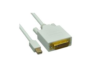 Cable Wholesale Mini DisplayPort to DVI Video Cable, Mini DisplayPort Male to DVI Male, 10 foot