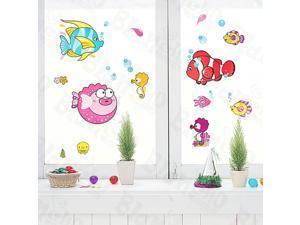 Home Kids Imaginative Art Tropical Fish - Medium Wall Decorative Decals Appliques Stickers