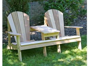 Creekvine Designs Home Outdoor Cedar Adirondack Settee