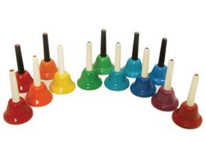 Kids Play 13 Note Chromatic Handbells by Rhythm Band Instruments