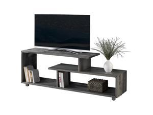 "Offex 60"" Urban Industrial Rustic Solid Pine Wood TV Console - Grey"