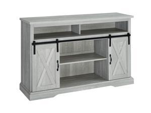 "WE Furniture 52"" Modern Farmhouse TV Stand - Stone Grey"