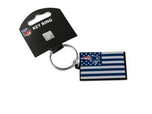 NFL New England Patriots Americana American Flag Team Logo Metal Key Ring Keychain