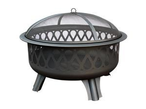 Landmann Magnafire Outdoor Fire Pit with Heavy Duty Spark Guard