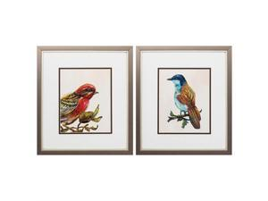Propac Images 2025 Home Decorative Double Matted Eco Bird Wall Art - Pack of 2