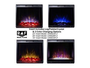 """Gibson Living Room Decor 28"""" LED Ventless Electric Space Heater Built-in Recessed Firebox Fireplace Insert"""