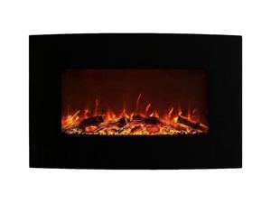 """Elite Flame 35"""" Log Ventless Heater Electric Wall Mounted Fireplace Better than Wood Fireplaces, Gas Logs, Fireplace Inserts, Log Sets, Gas Fireplaces, Space Heaters, Propane"""