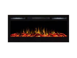 "Gibson Living Room Decor Madison 36"" Log Recessed Wall Mounted Electric Fireplace"
