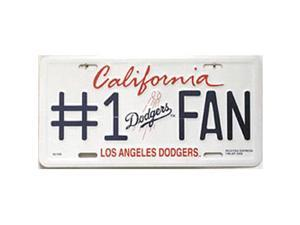 Los Angeles Dodgers #1 Fan Metal License Plate