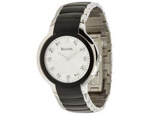 Bulova 98D118 Men's Diamond Analog Watch with Silver Dial