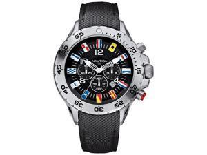 Men's Black Nautica NST Chronograph Flag Watch N16553G